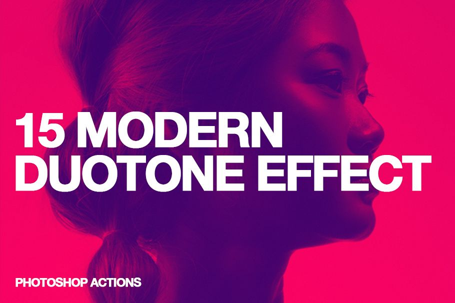 15 Modern Colors Duotone Effect Action example image 1