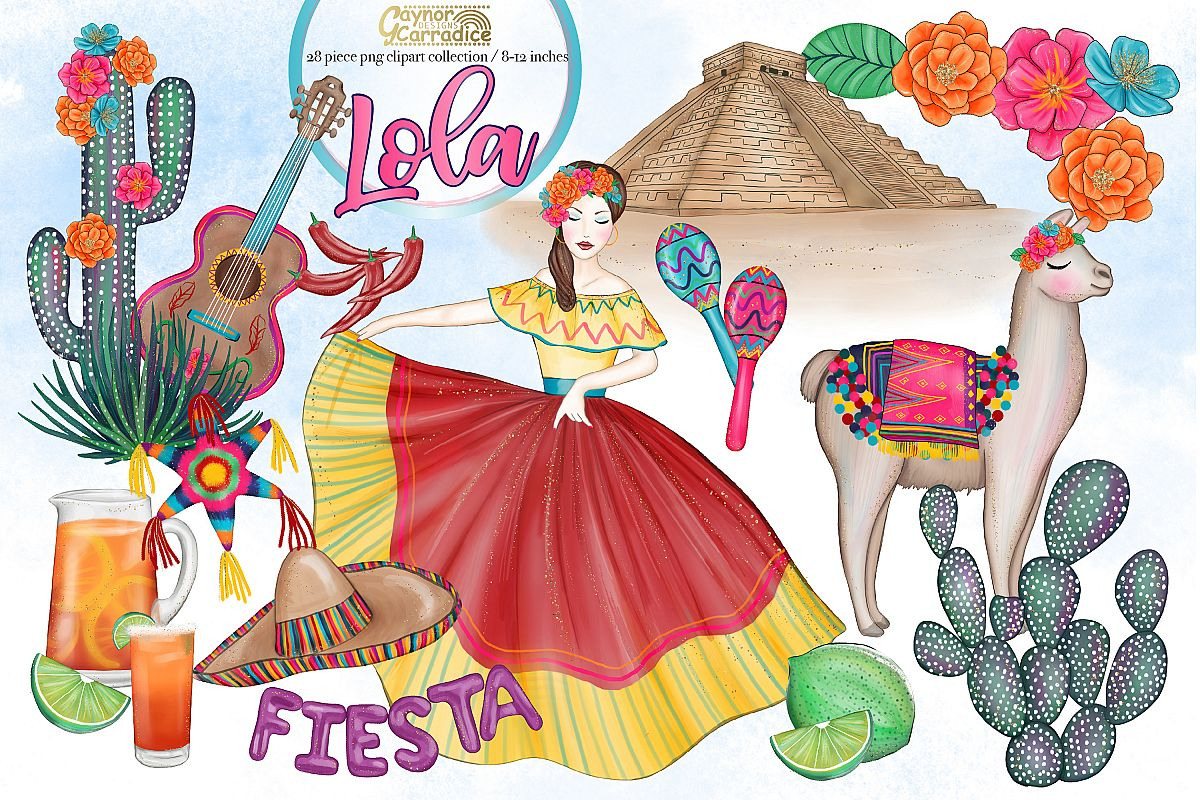 Lola - Mexican cinco de mayo Clipart collection example image 1