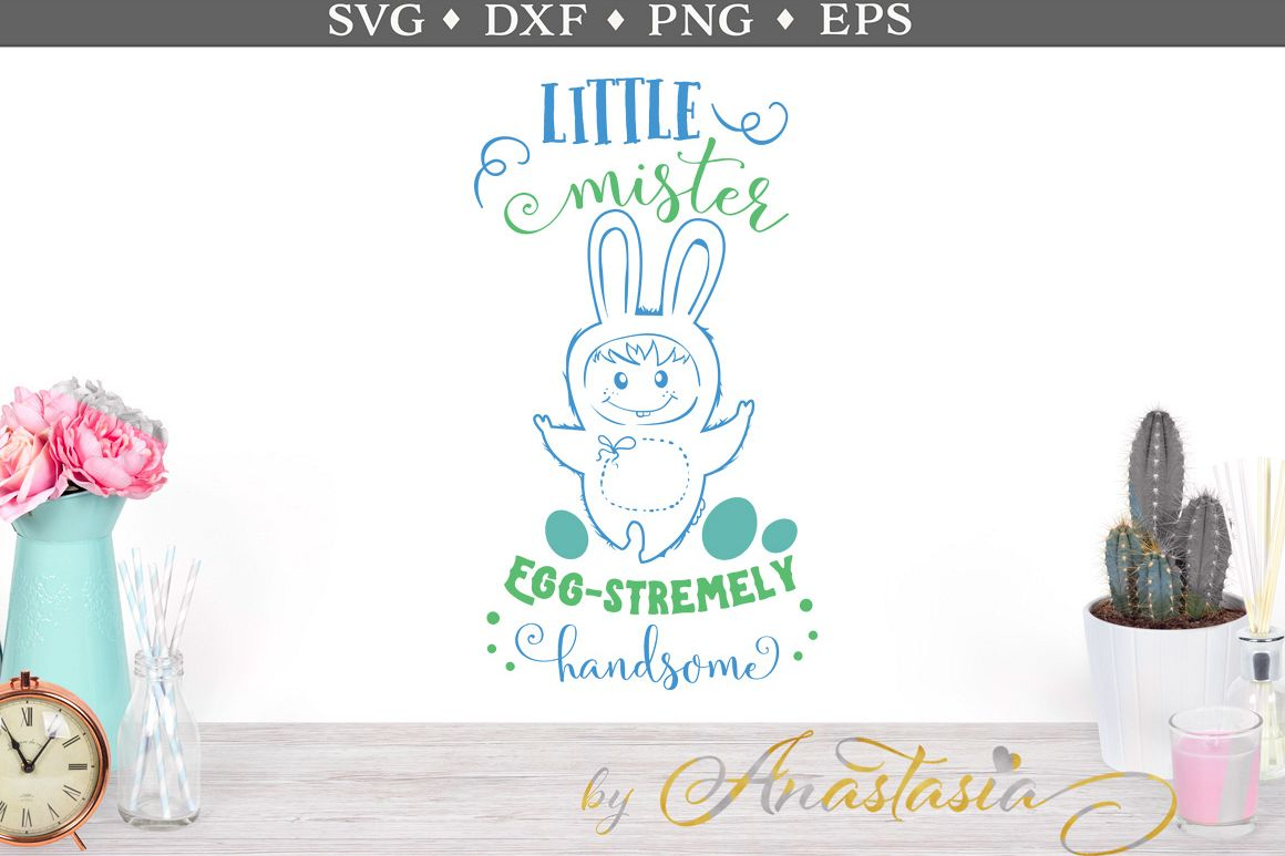 Little Mister Egg-stremely Handsome SVG Cut Files example image 1