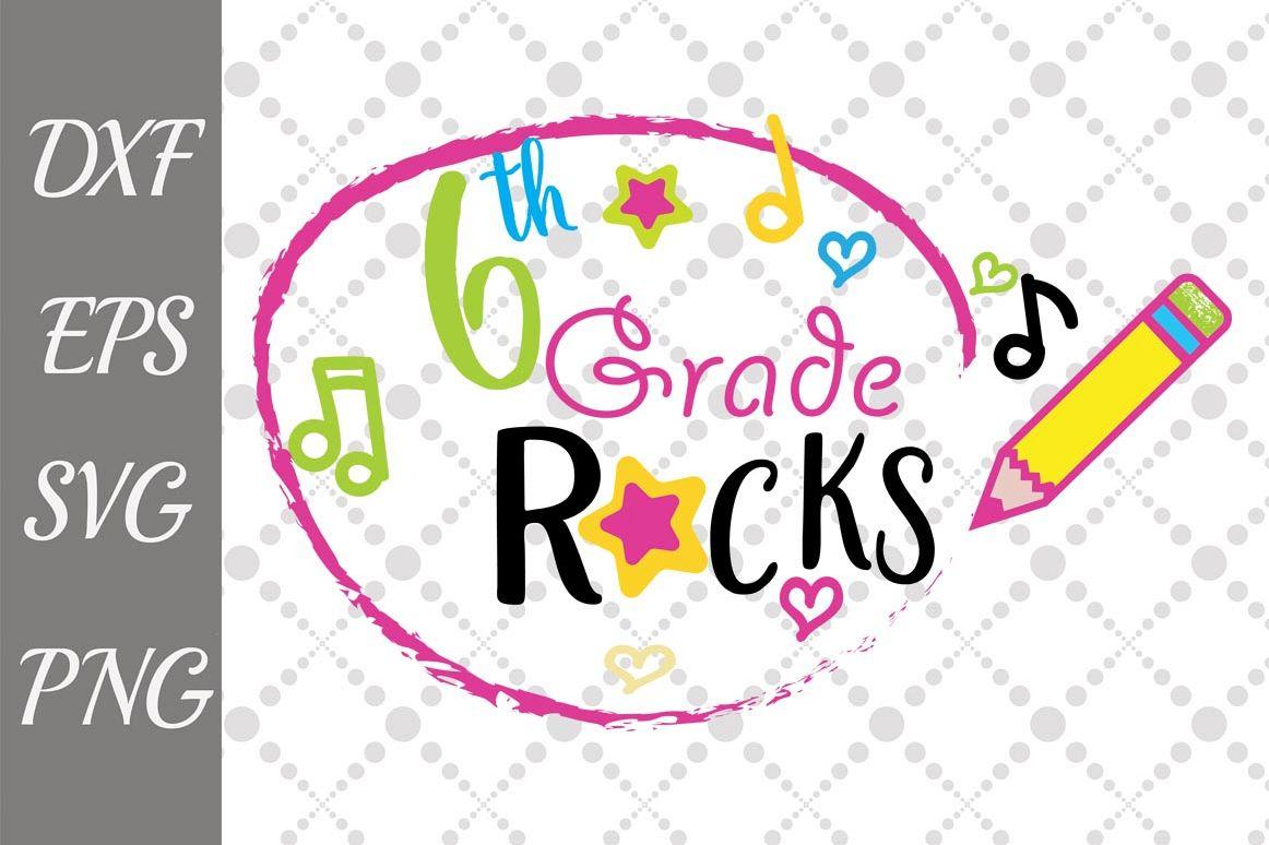1st, 2nd, 3rd, 4th, 5th, 6th Grade Rocks Iron on ... |Sixth Grade Rocks