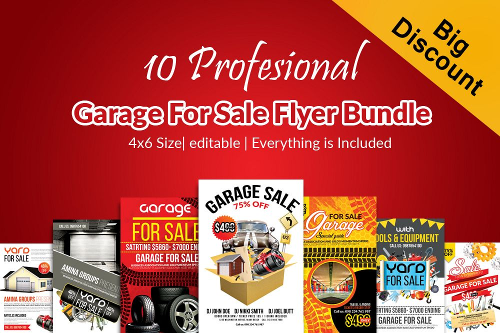 10 Garage Sale Flyer Bundle example image 1
