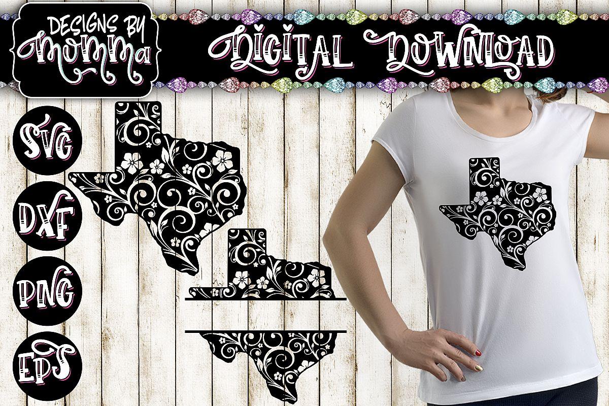Texas Flourish plus Split SVG example image 1