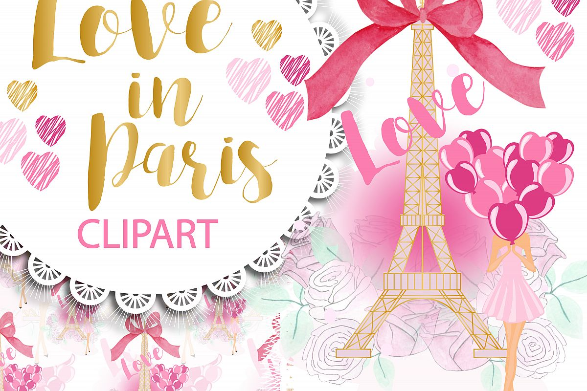Love in Paris Clipart Png example image 1