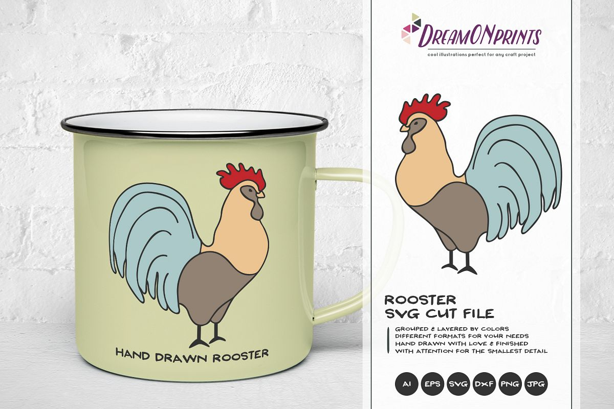 Rooster SVG Cut Files - Farm SVG example image 1