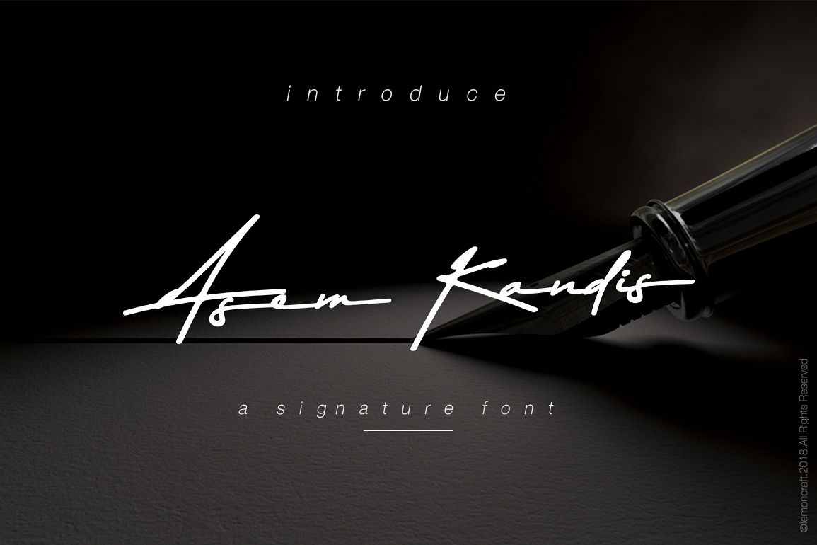 Asem Kandis - A Signature Font example image 1