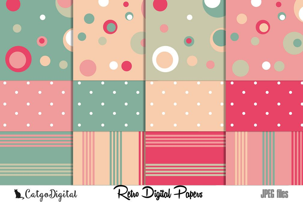 Retro Papers Digital Scrapbooking Pack 12x12