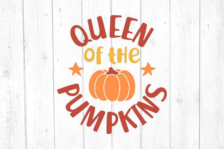 Queen of the pumpkins Svg, Pumpkin Svg, Girl Tshirt example image 1