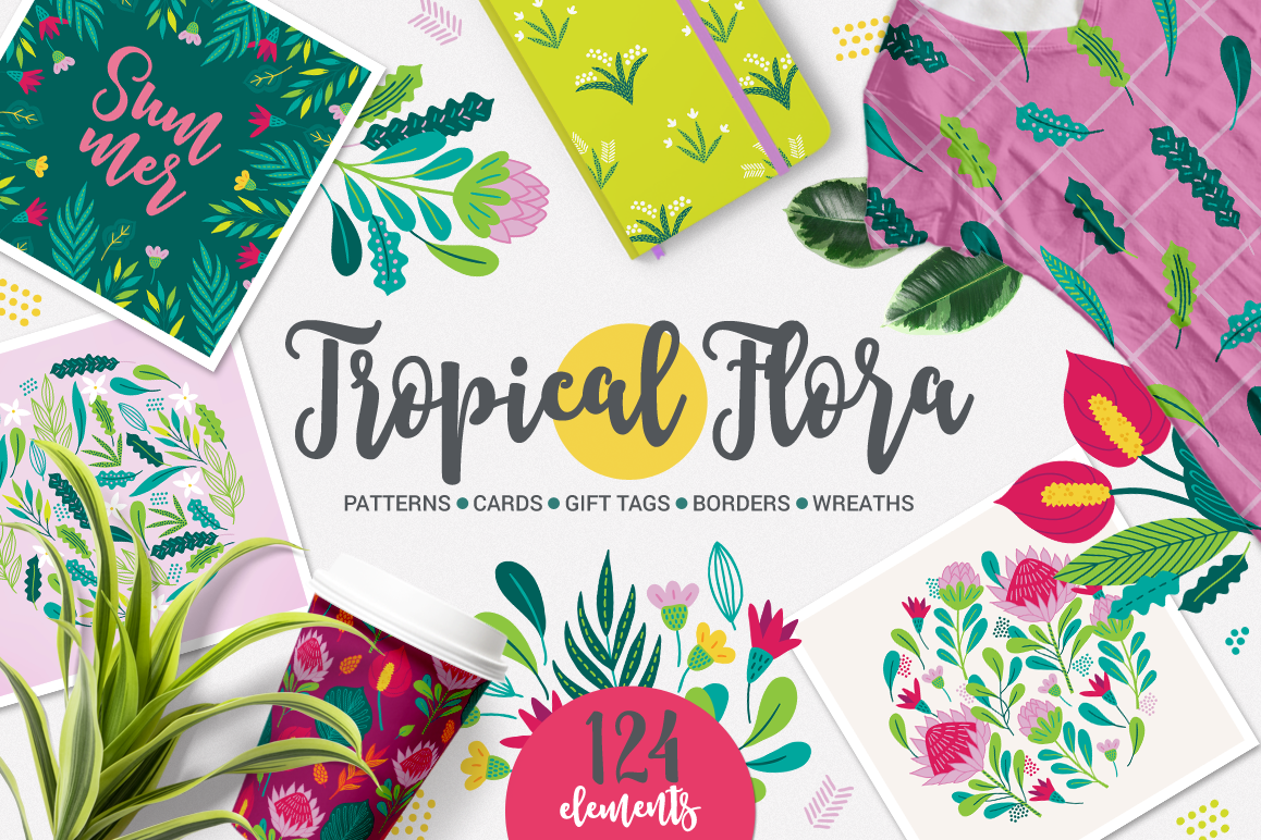 Tropical Flora KIt example image 1