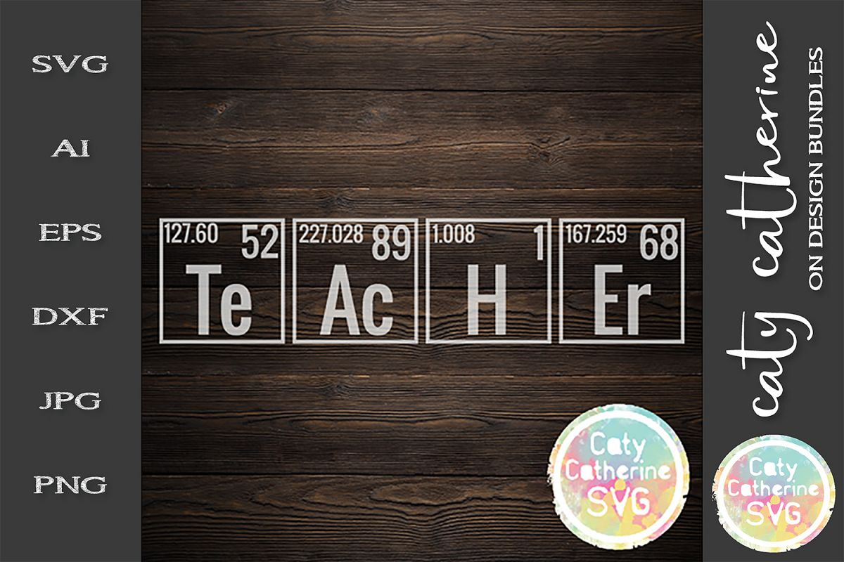Periodic Table Teacher SVG Cut File example image 1