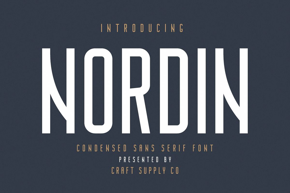Nordin - Condensed Sans Serif Font example image 1