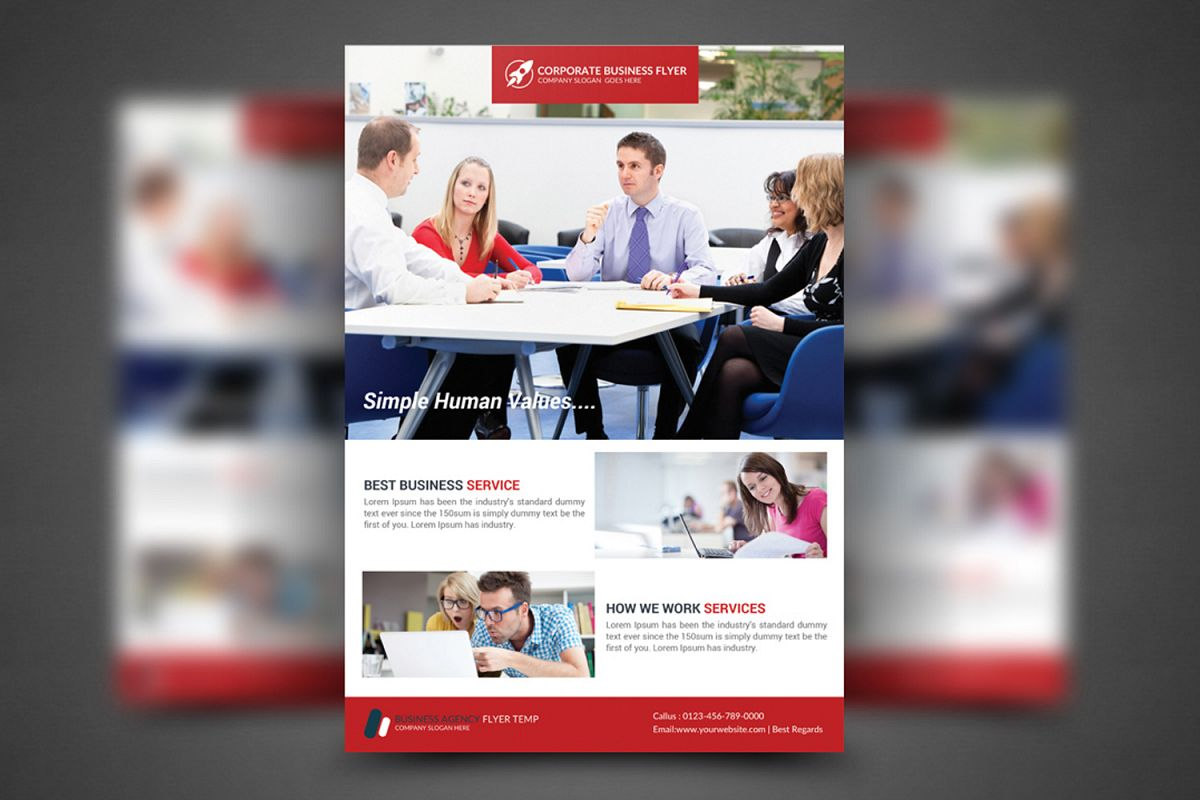 Simple Corporate Business Flyer Template Design example image 1