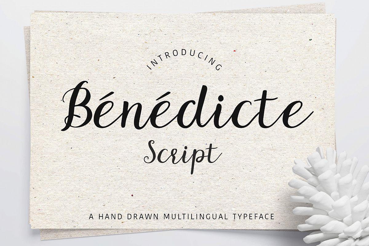 Benedicte Script example image 1