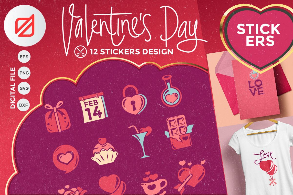 Happy Valentine's Day Sticker Collection example image 1