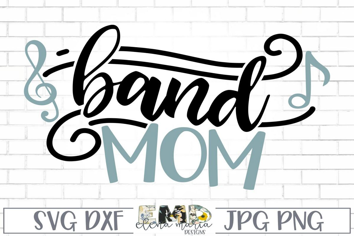 Band Mom Svg | Music Notes Svg example image 1