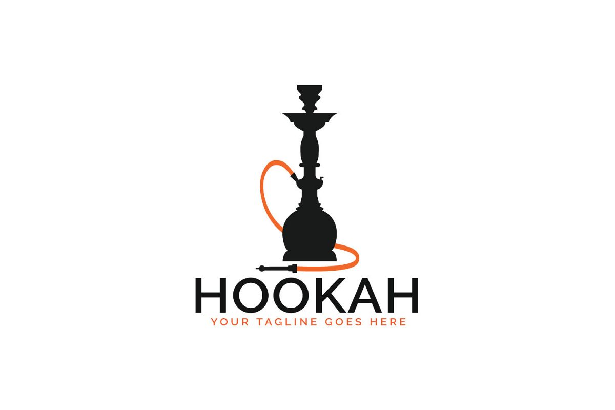 Hookah logo design. Lounge cafe emblem. example image 1