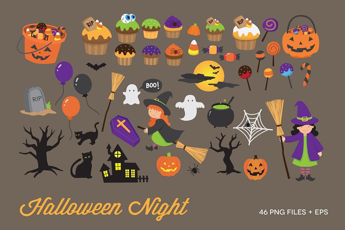 Halloween Night Clipart example image 1