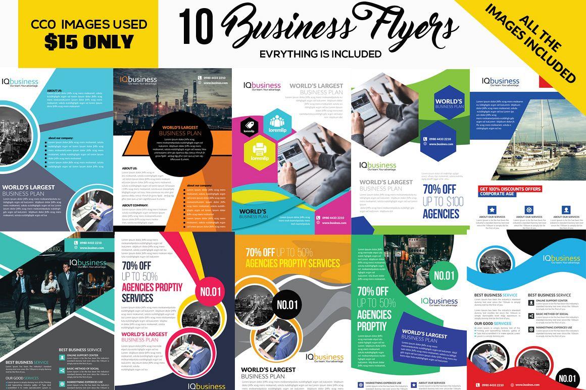 10 Multi use Business Corporate Flyer Bundle 10 example image 1