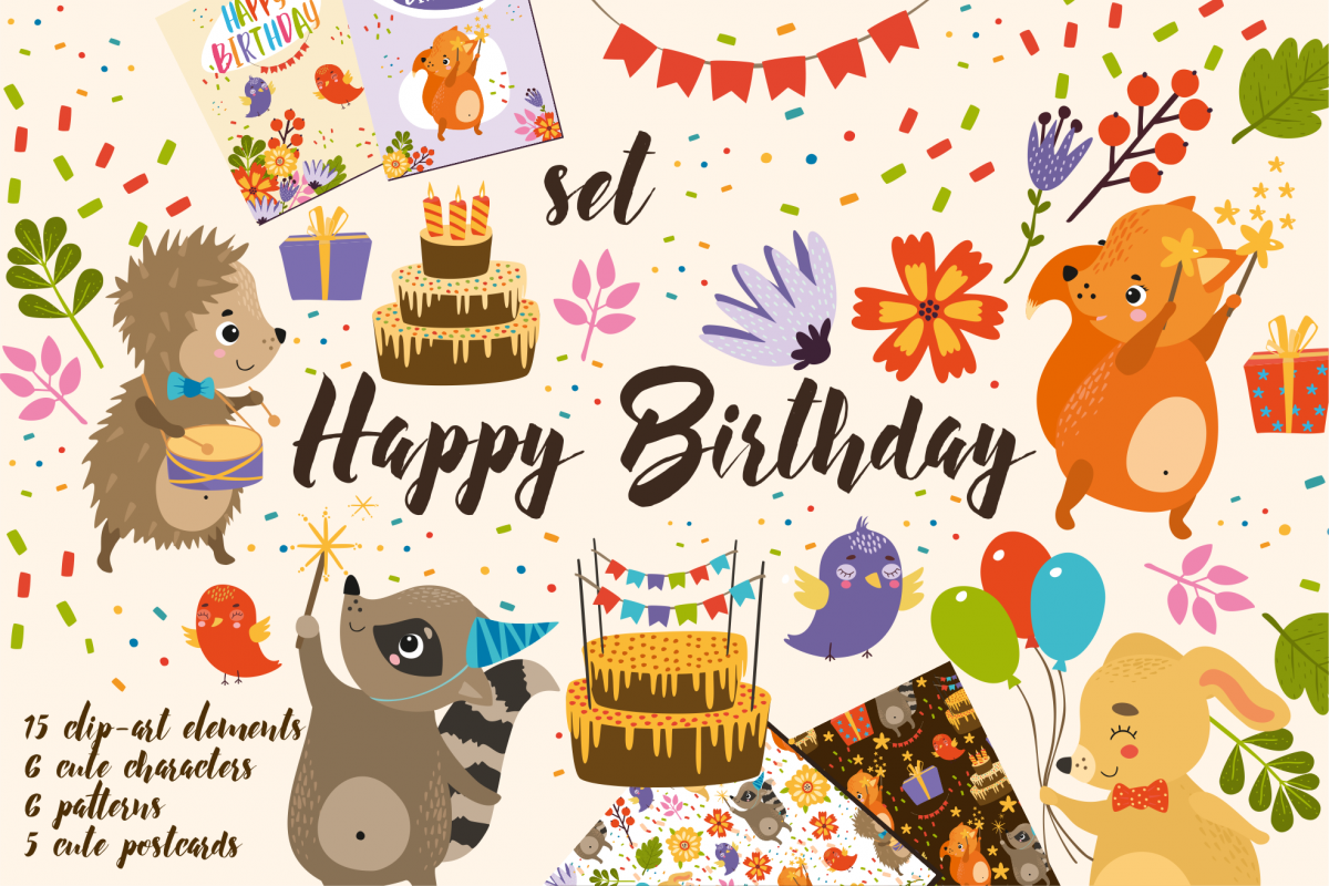 Set Happy Birthday For Kid Example Image 1