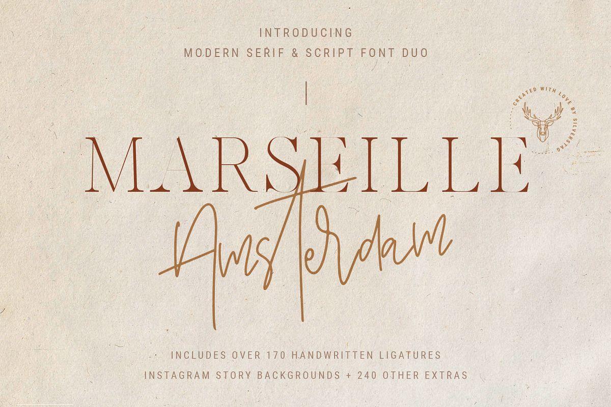 Marseille & Amsterdam - Modern Serif & Signature Font Duo example image 1
