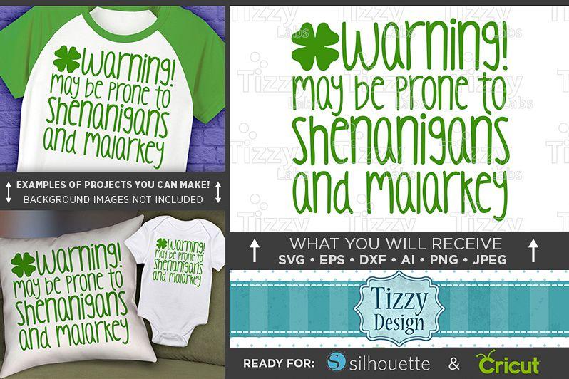 Shenanigans and Malarkey SVG - Kids St. Patricks Day - 1074 example image 1