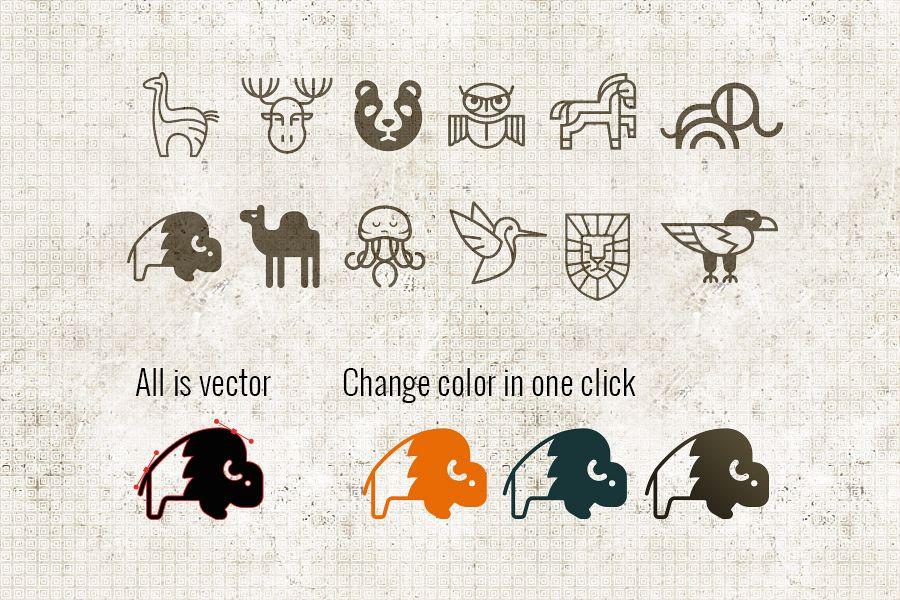12 minimal animal logo template example image 1