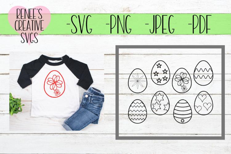 Easter egg Bundle   EasterEas   SVG Cutting File example image 1