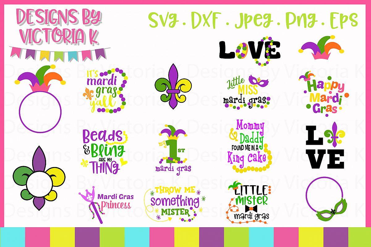 Mardi Gras SVG Cut Files example image 1