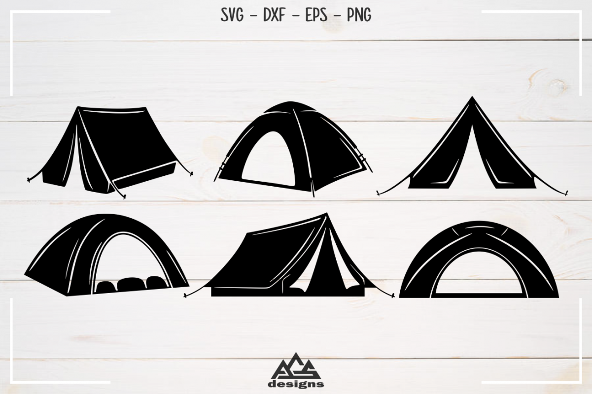 Camp Camping Tent Packs Svg Design example image 1