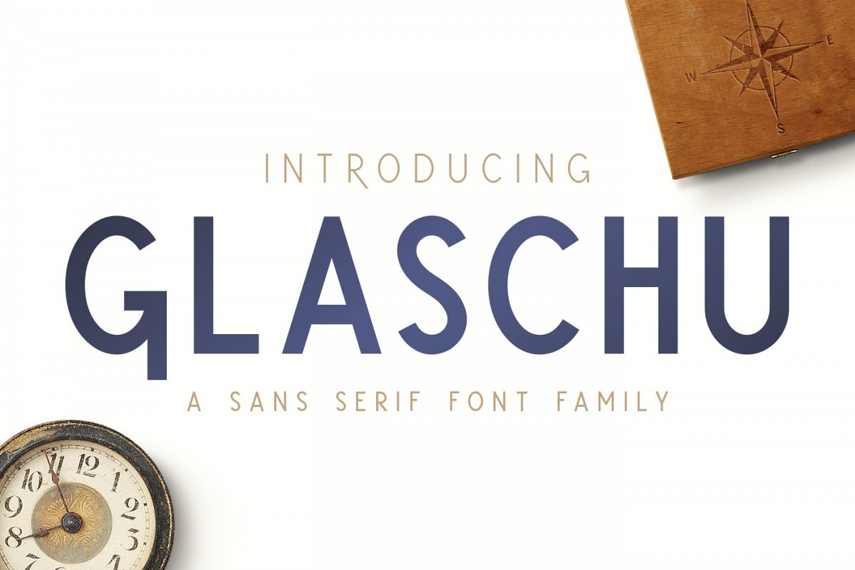 Glaschu Font Family example image 1