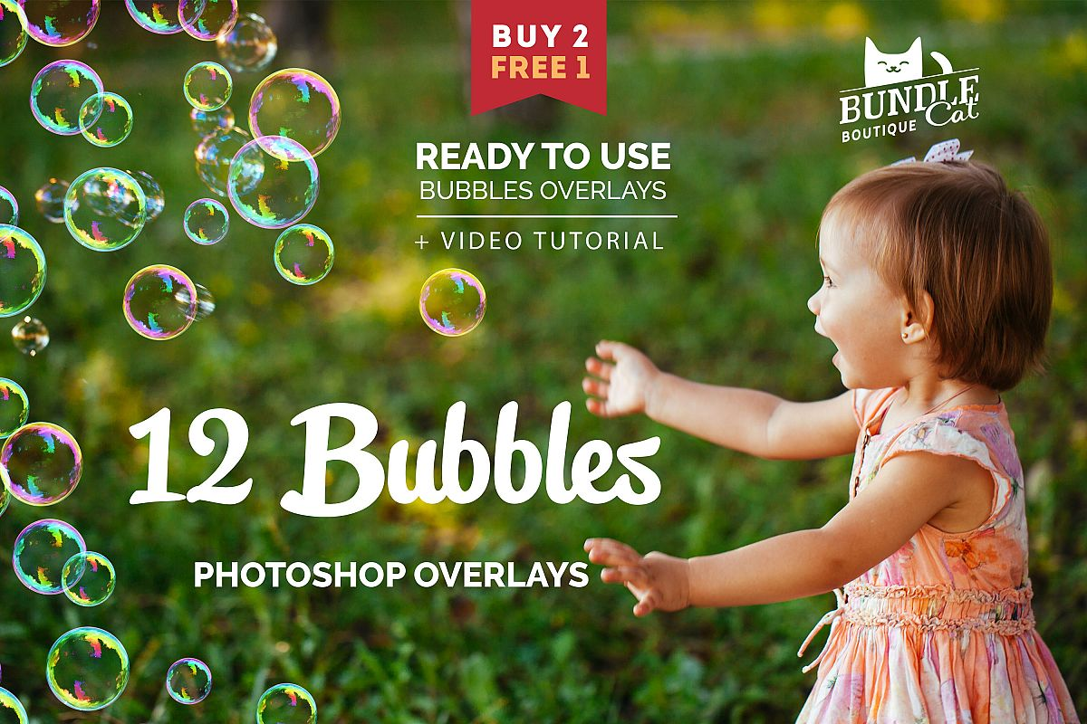 12 Soap Bubbles Photo Overlays example image 1