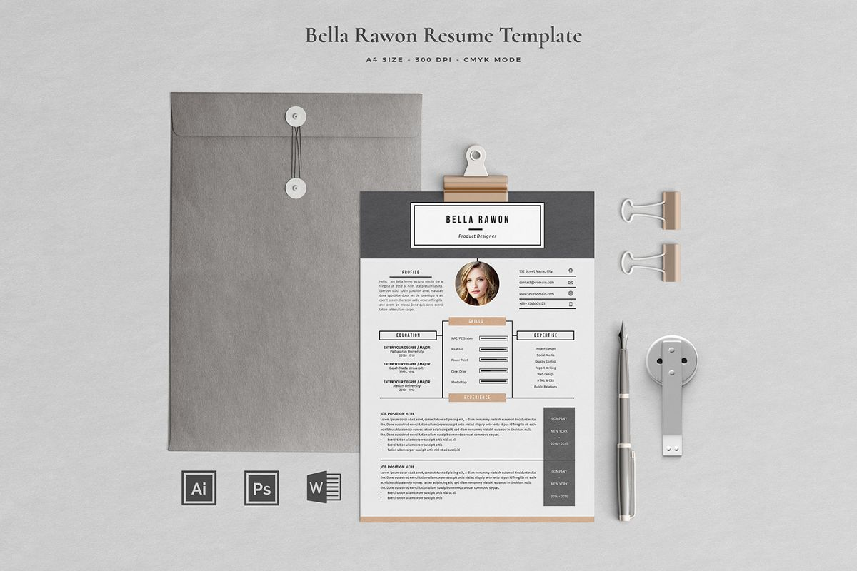Bella Resume with Cover Letter Professional Template example image 1