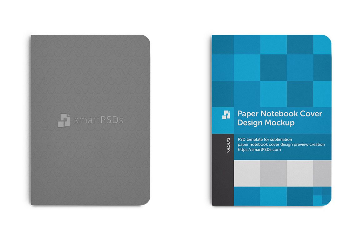 Paper Notebook Cover Design Mockup example image 1