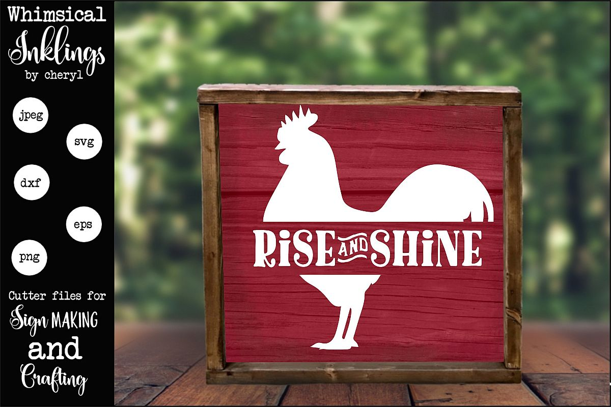 Rise and Shine-Rooster SVG example image 1