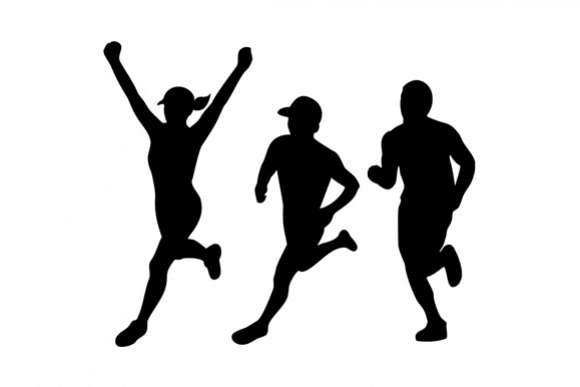 Marathon Runners Silhouette Collection Set example image 1