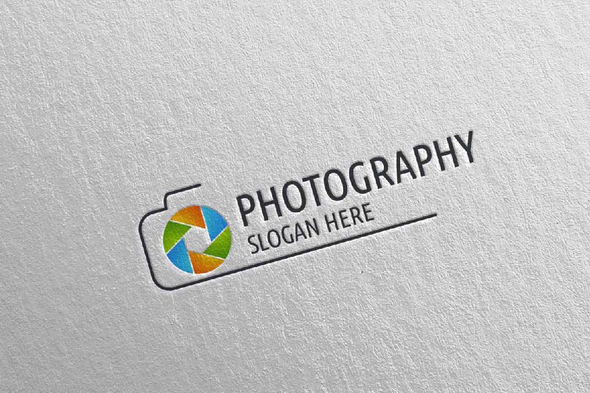 Abstract Camera Photography Logo 3 example image 1