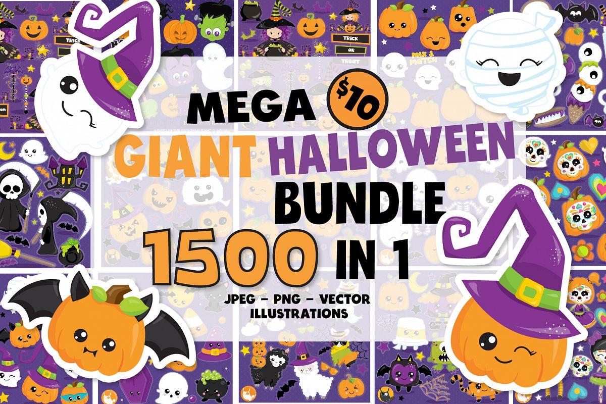 1500 Graphics - MEGA Halloween Bundle - 98OFF example image 1