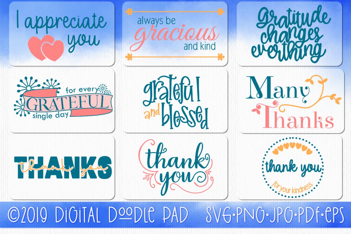 Gratitude SVG Bundle - So Many Ways To Say Thank You example image 1