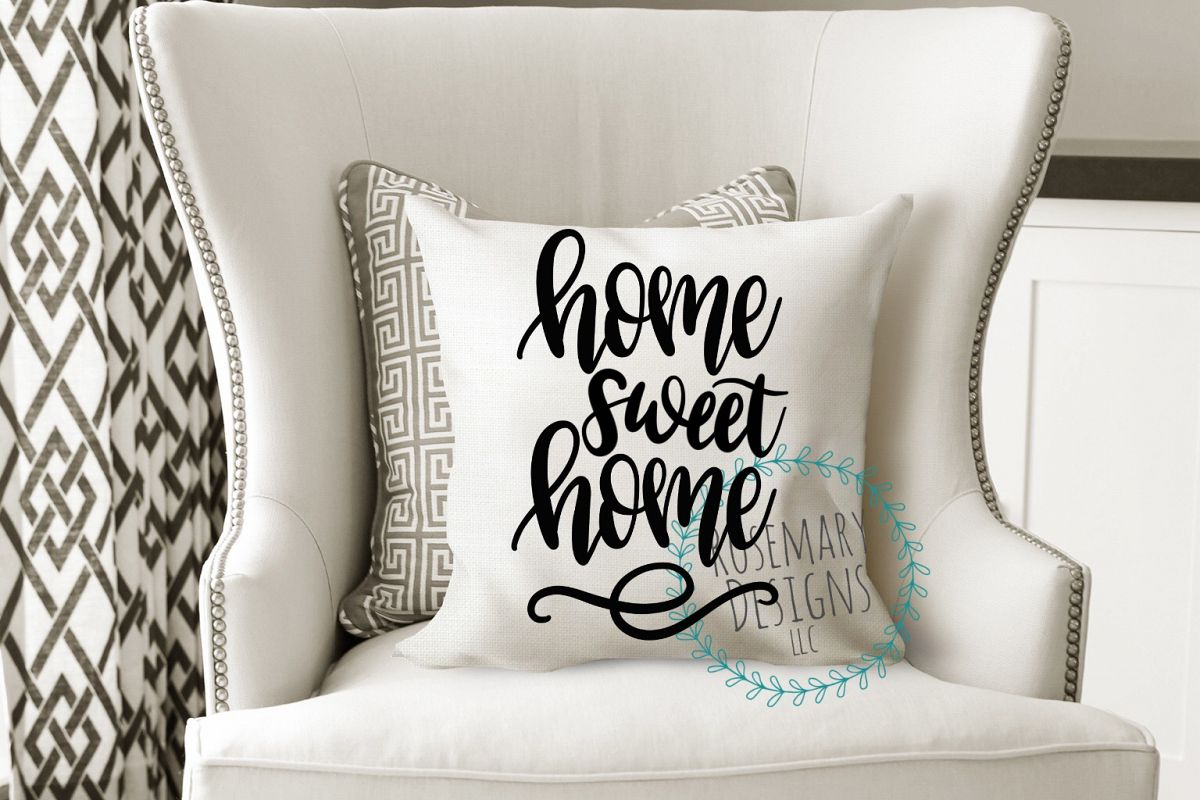 Home Sweet Home - Hand Lettered SVG example image 1