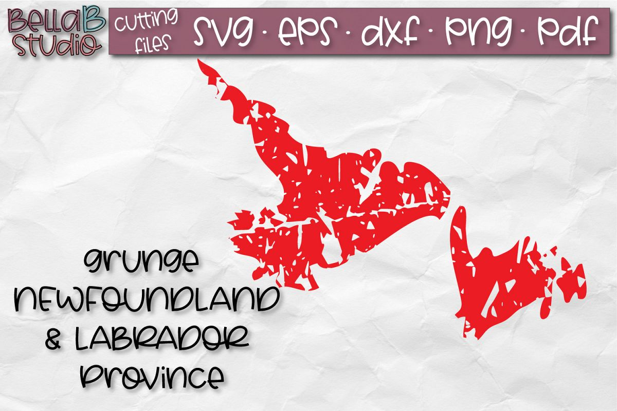 Newfoundland SVG, Canada SVG, Canadian SVG, Distressed SVG example image 1