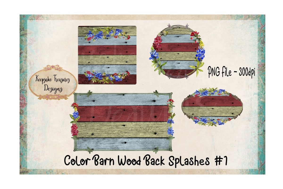 Color Barn Wood, Background Splashes, Set of 4 example image 1