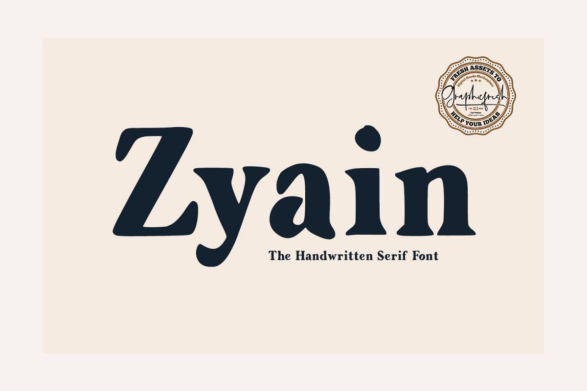 Zyain - The Handwritten Serif Font example image 1