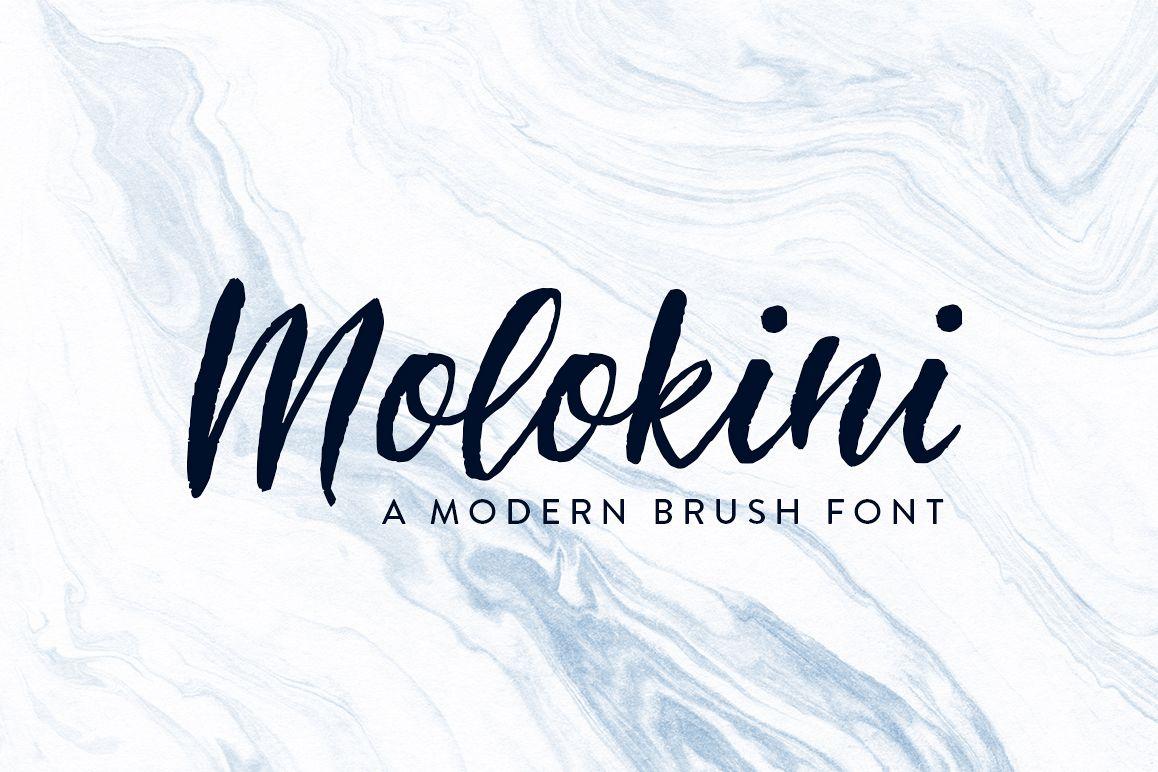Molokini Brush Script example image 1