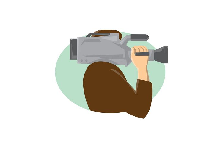 cameraman movie video camera side retro example image 1