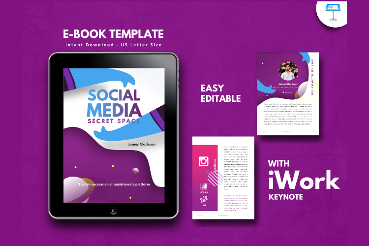 Social Media Marketing Tips eBook Template Keynote Presentat example image 1