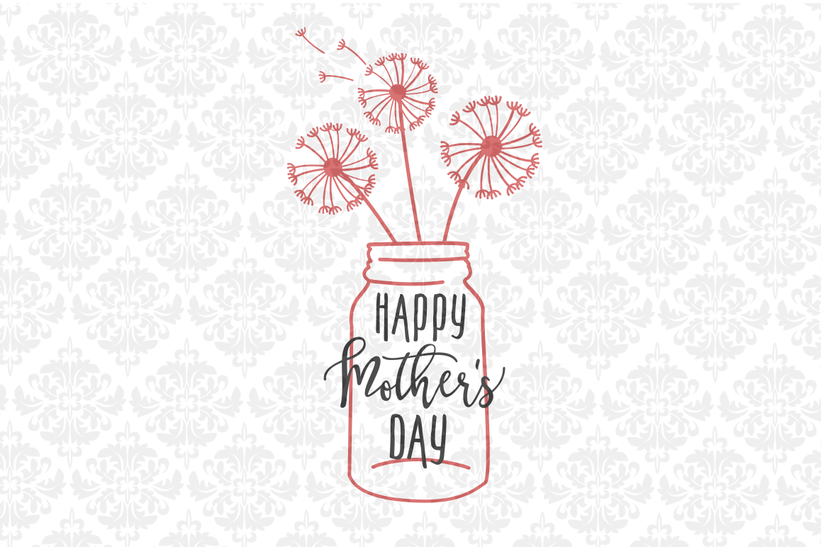 Mothers Day Dandelion Jar example image 1