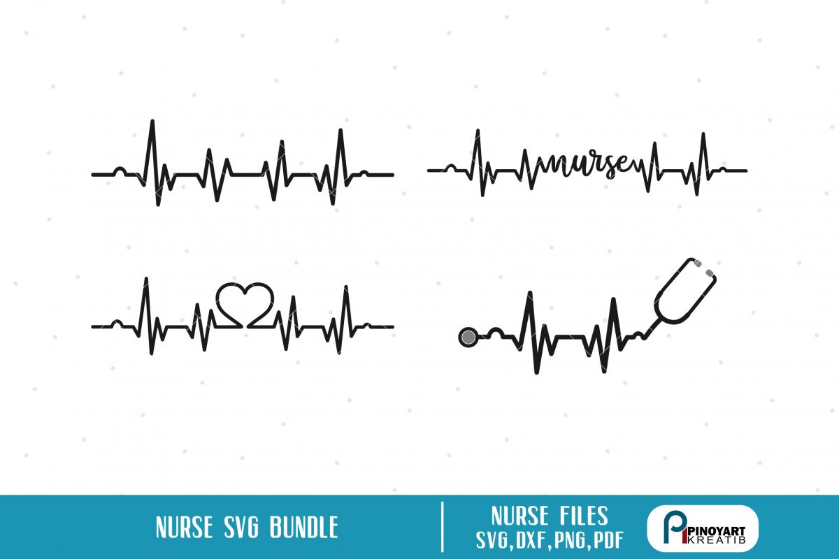 Heartbeat Svg Nurse Svg Lifeline Svg Nurse Svg File