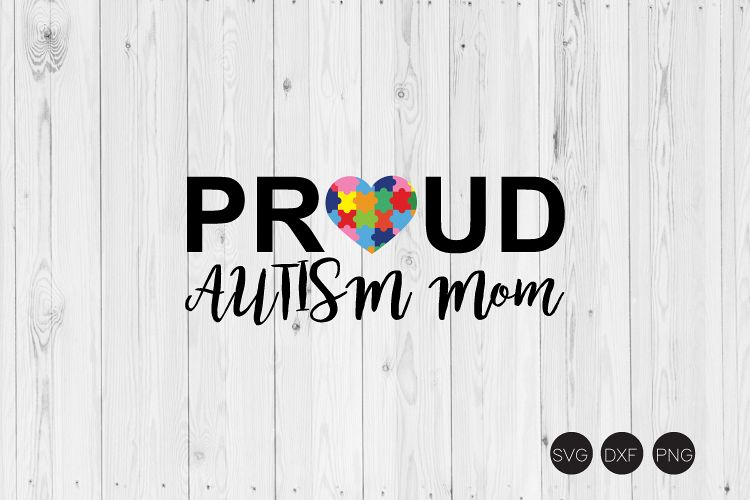 Pround Autism Mom SVG example image 1
