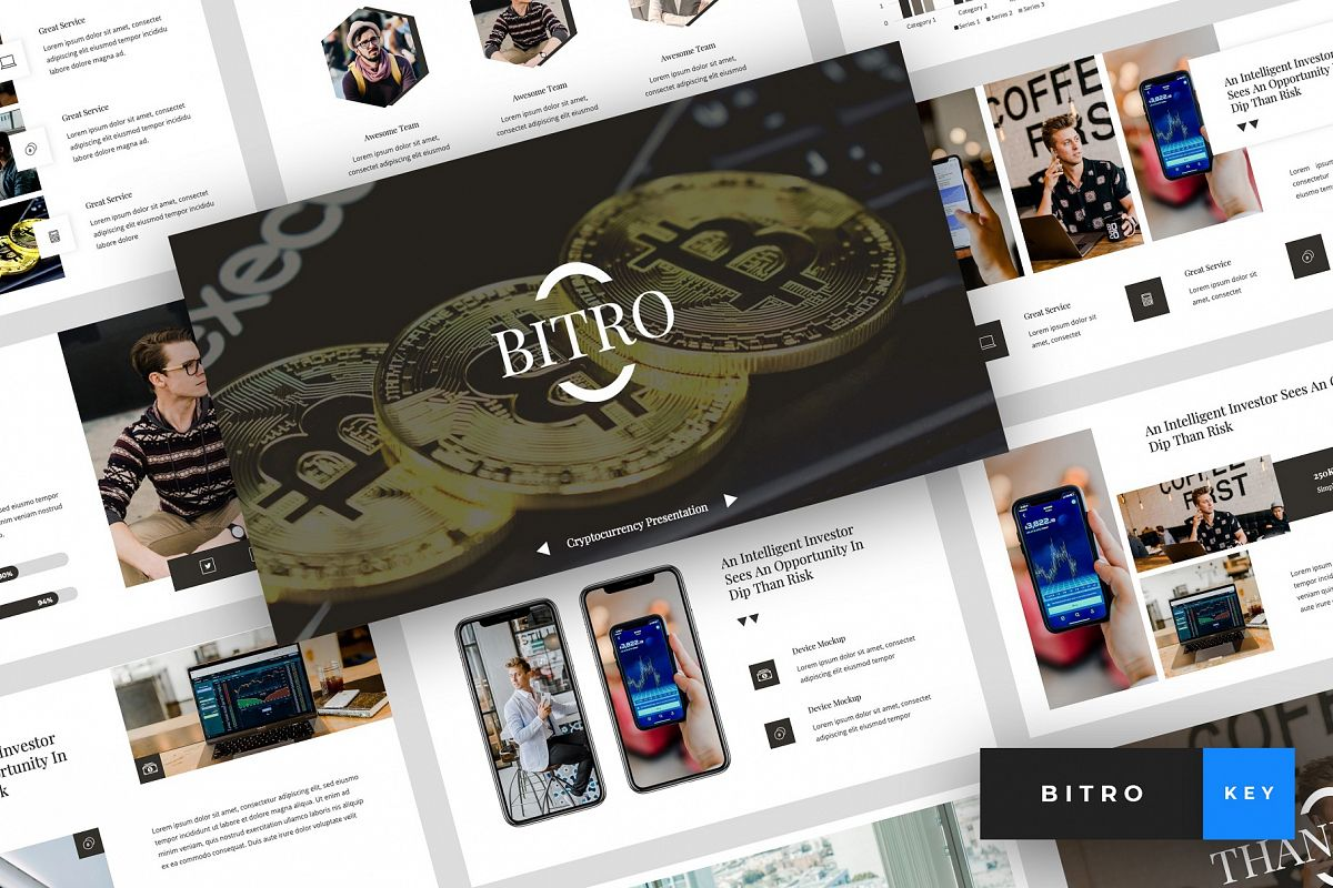 Bitro - Criptocurrency Keynote Template example image 1