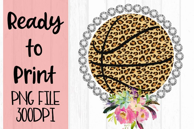 Bling Flowers Basketball Ready to Print example image 1