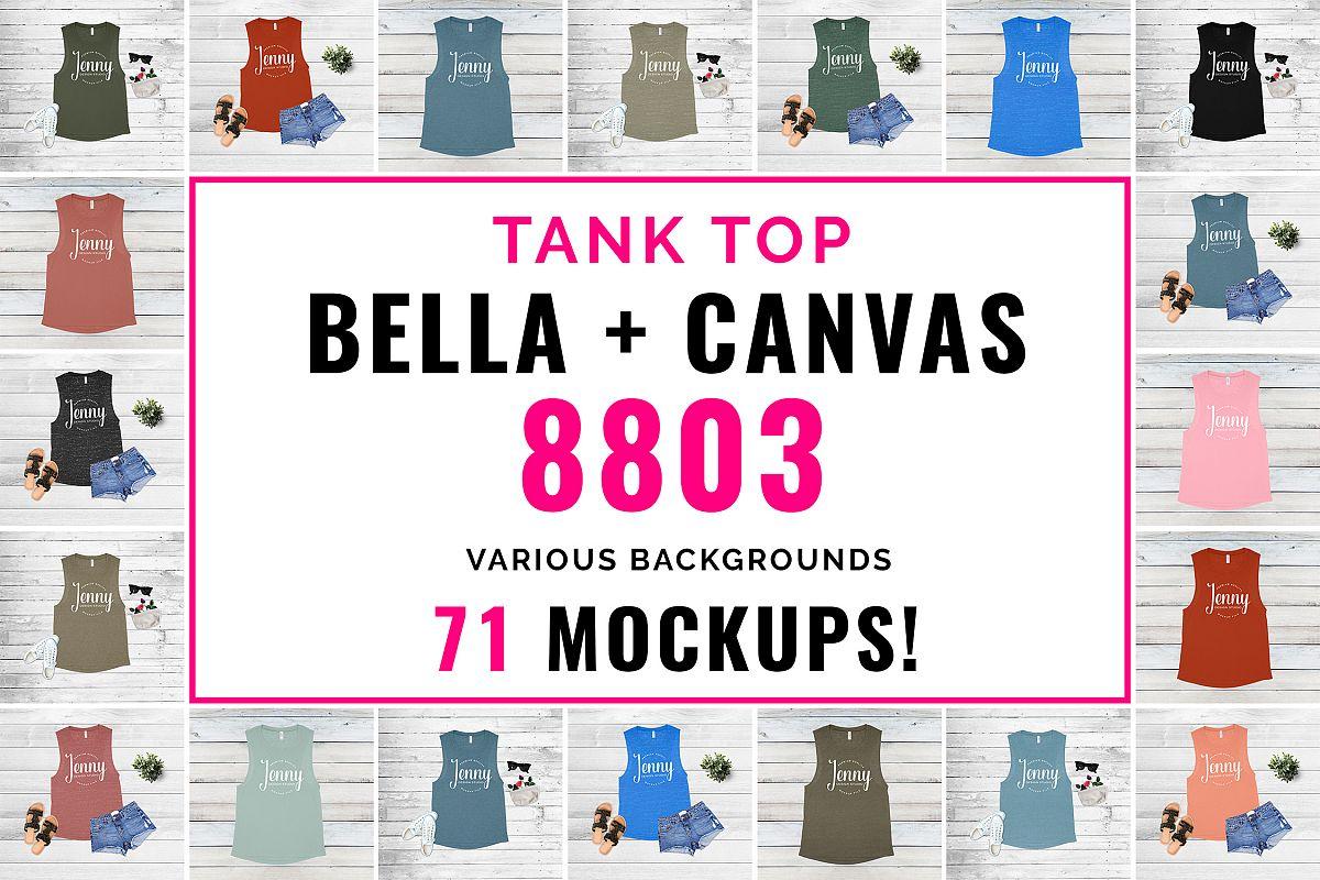 Bella Canvas 8803 Mockup Bundle, Tank Top Mockup example image 1